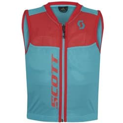 Защита спины SCOTT Vest Protector Jr Actifit Plus sky blue/hibiscus red Р:S