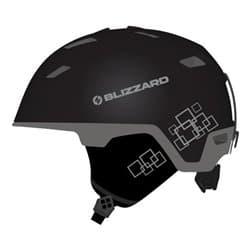 Шлем BLIZZARD® Double Black matt/Gun metal/Silver squares 60-62