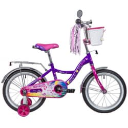 "Велосипед 16"" NOVATRACK LITTLE GIRLZZ Фиолетовый"