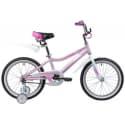 """Велосипед 18"""" NOVATRACK NOVARA Алюминиевая рама, Розовый"""