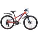 """Велосипед 24"""" NOVATRACK EXTREME 11"""" 21 скорость, Алюминиевая рама, Оранжевый"""