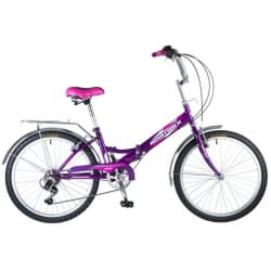 """Велосипед 24"""" NOVATRACK Складной FS Фиолетовый"""