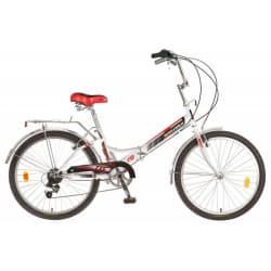 """Велосипед 24"""" NOVATRACK Складной FS 6 скор. Белый"""