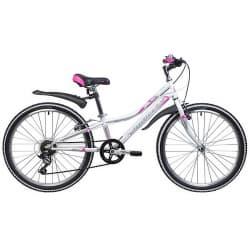 """Велосипед 24"""" NOVATRACK ALICE 12"""" 6 скоростей, Белый"""