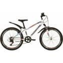 """Велосипед 24"""" NOVATRACK EXTREME 10"""" 6 скоростей, Белый"""