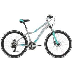"""Велосипед 26"""" STINGER VESTA EVO 17"""" 21 скорость, Cеребристый"""