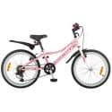 """Велосипед 20"""" NOVATRACK ALICE 6 скоростей, Розовый"""