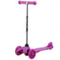 Самокат-кикборд NOVATRACK Disco-kids max 25кг, колеса 120*90, Нежно-розовый