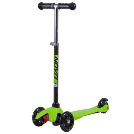 Самокат-кикборд NOVATRACK Disco-kids, детский, max 25кг, колеса 120*90, Черно-зеленый