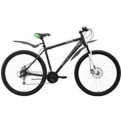 """Велосипед 29"""" STARK Tank 29.1 D 20"""" чёрный/серый/зелёный"""
