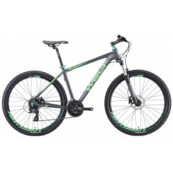 "Велосипед 27.5"" WELT Rockfall 1.0 16"" matt grey/green 2019"