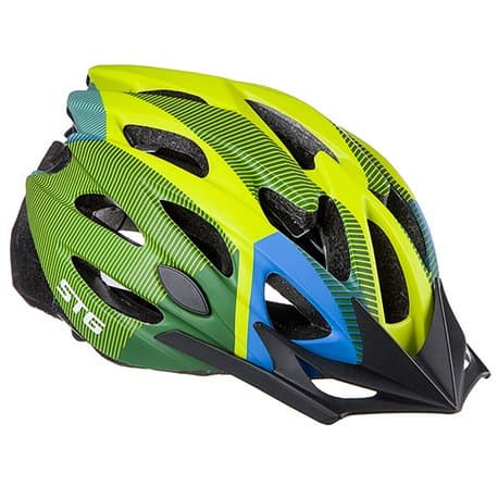 Шлем велосипедный STG MV29-A Салат./син./черн. Р:M(55-58) Х89038
