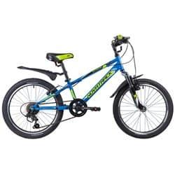 """Велосипед 20"""" NOVATRACK EXTREME 6 скоростей, Сталь Синий"""