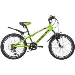 """Велосипед 20"""" NOVATRACK EXTREME 6 скоростей, Сталь Зеленый"""