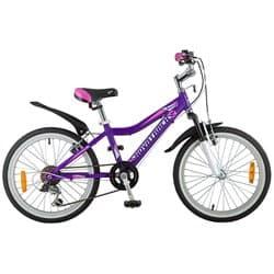 """Велосипед 20"""" NOVATRACK NOVARA 6 скоростей, Алюм., Сиреневый"""