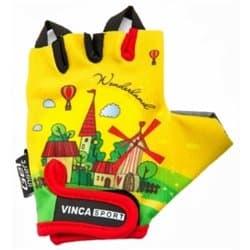 Перчатки вело VINCA детские VG 942 child travel (7 лет)