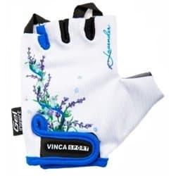 Перчатки вело VINCA детские VG-938 Lavender (7 лет)