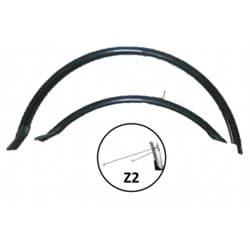 """Крылья вело VS комплект HN 12 (26"""") black 26"""" удлин. черный"""