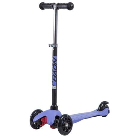 Самокат-кикборд NOVATRACK Disco-kids, детский, max 25кг, колеса 120*90, Черно-фиолетовый