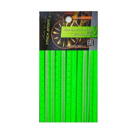 Светоотражающие накладки на спицы 12 шт. STA 113 зеленый
