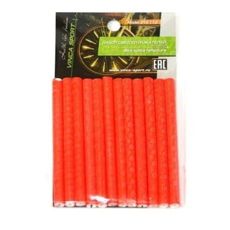 Светоотражающие накладки на спицы 12 шт. STA 113 оранж.