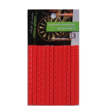 Светоотражающие накладки на спицы 12 шт. STA 113 красный