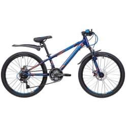 """Велосипед 24"""" NOVATRACK LUMEN 11"""" 18 скоростей, Алюм., Синий"""
