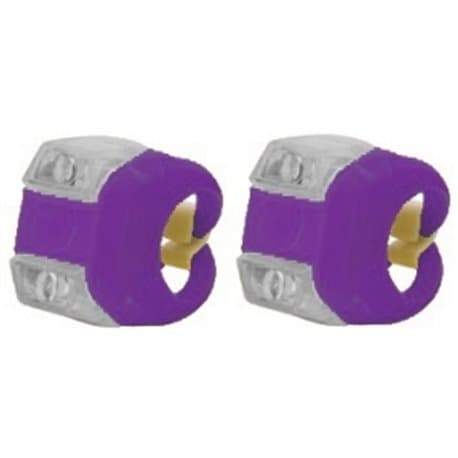 Фонари комплект VL 215 fairy Camilla фиолетовый (2 диода бел. и кр., 3 режима)