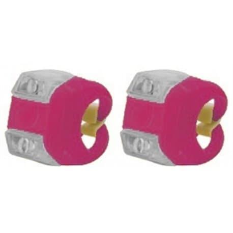 Фонари комплект VL 215 princess Kate розовый (2 диода бел. и кр., 3 режима)