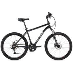 """Велосипед 24"""" STINGER ELEMENT D 14"""", 12 скоростей, Алюминиевая рама, Черный"""