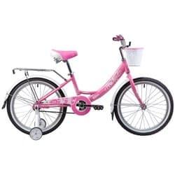 """Велосипед 20"""" NOVATRACK GIRLISH LINE Алюминиевая рама, Розовый"""