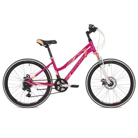 """Велосипед 24"""" STINGER LAGUNA D 12"""" 12 скоростей, Розовый"""