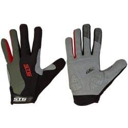 Перчатки вело STG c длинными пальцами черн./красн. S Х87906-C