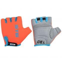 Перчатки вело STG голубой/оранжевый L Х74365-Л