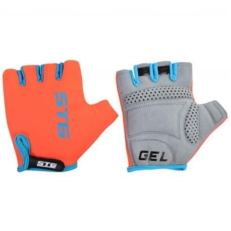 Перчатки вело STG голубой/оранжевый S Х74365-С