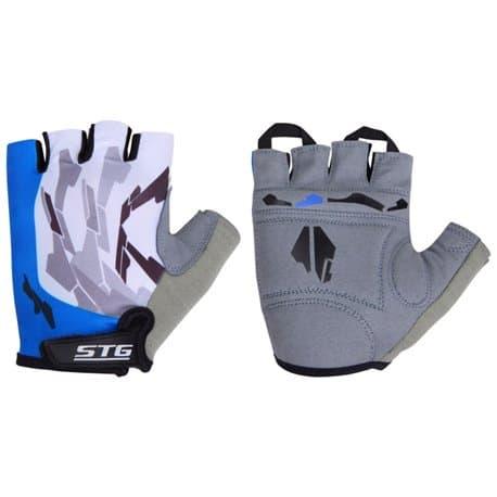 Перчатки вело STG синий/белый M Х61877-М