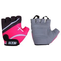 Перчатки вело STG черно-розовые S Х61872-С