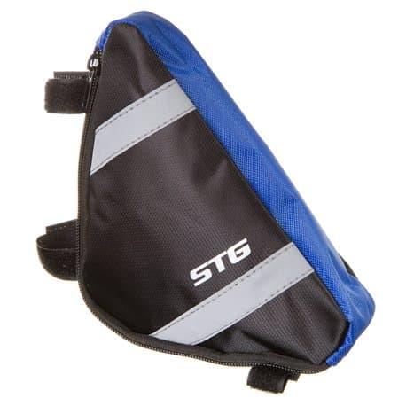 Сумка STG под раму 12490 M треугольная черная/серая Х88294