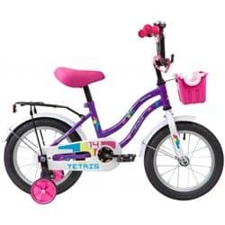 """Велосипед 14"""" NOVATRACK TETRIS Фиолетовый"""