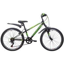 """Велосипед 24"""" NOVATRACK EXTREME 10"""" 6 скоростей, Черный"""