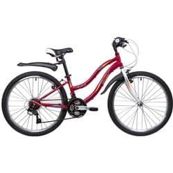 """Велосипед 24"""" NOVATRACK LADY 10"""" 18 скоростей Сталь Красный"""