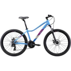 "Велосипед женский 26"" WELT Edelweiss 1.0D 16"" Matt Light Blue/Violet 2020"
