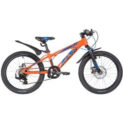 """Велосипед 20"""" NOVATRACK EXTREME 7 скоростей, Алюминиевая рама, Оранжевый"""