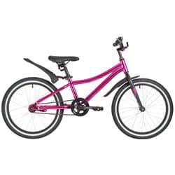 """Велосипед 20"""" NOVATRACK PRIME Алюминиевая рама, Розовый"""
