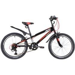 """Велосипед 20"""" NOVATRACK RACER, 6 скоростей, Сталь Черный"""