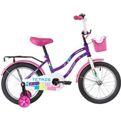 """Велосипед 16"""" NOVATRACK TETRIS Фиолетовый"""