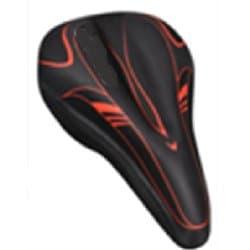 Накладка на седло гелевая VINCA XD 05 black/red 270*180мм Черный/Красный