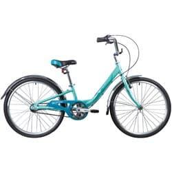 """Велосипед 24"""" NOVATRACK ANCONA 10"""" 3 скор. Алюм. Зеленый"""
