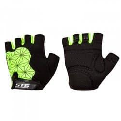 Перчатки вело STG Replay черно/зеленый L Х95307-Л
