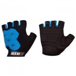 Перчатки вело STG Replay черно/синий L Х95306-Л